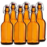 Botellas de Cerveza Chef's Star de tapón fácil de Abrir. Paquete de 6 Botellas...