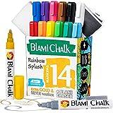 Blami Arts - Rotuladore de Tiza Líquida Pack de 14 - Borrador y 18 Etiquetas...