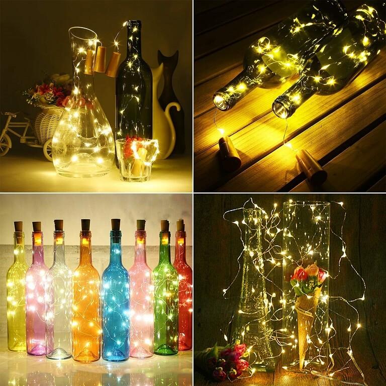 Botellas Decoradas con Luces